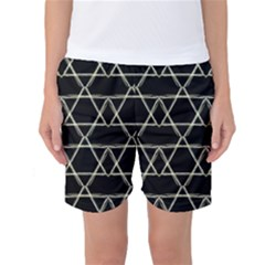 Star Of David   Women s Basketball Shorts by SugaPlumsEmporium