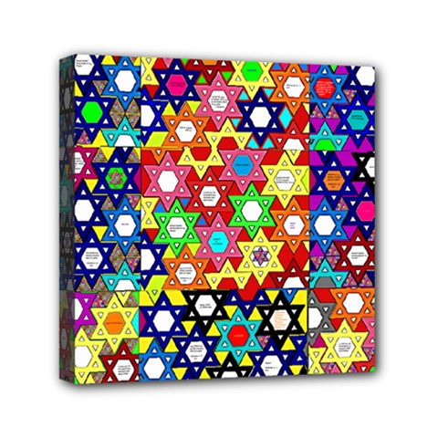 Star Of David Mini Canvas 6  X 6  by SugaPlumsEmporium