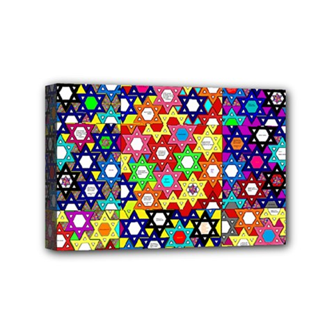 Star Of David Mini Canvas 6  X 4  by SugaPlumsEmporium