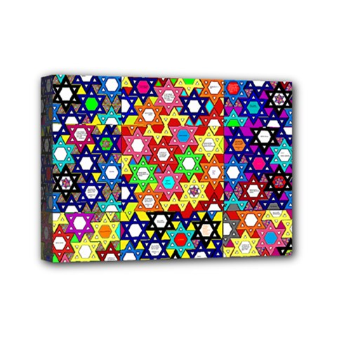 Star Of David Mini Canvas 7  X 5  by SugaPlumsEmporium