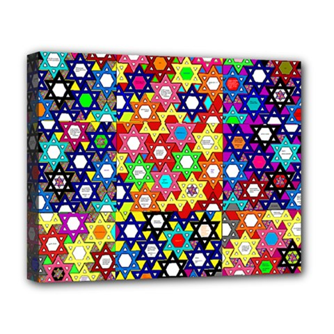 Star Of David Deluxe Canvas 20  X 16