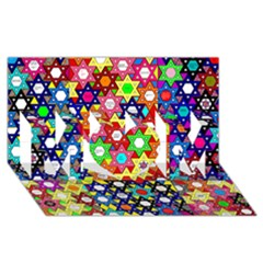 Star Of David Mom 3d Greeting Card (8x4)  by SugaPlumsEmporium