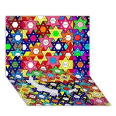 Star Of David Circle Bottom 3d Greeting Card (7x5)  by SugaPlumsEmporium