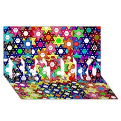 Star Of David Best Bro 3d Greeting Card (8x4)  by SugaPlumsEmporium