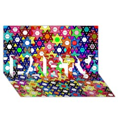Star Of David Party 3d Greeting Card (8x4)  by SugaPlumsEmporium