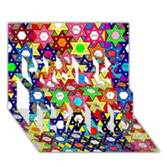 Star Of David Work Hard 3d Greeting Card (7x5)  by SugaPlumsEmporium