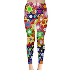 Star Of David Leggings  by SugaPlumsEmporium