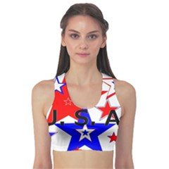 The Patriot Usa Sports Bra by SugaPlumsEmporium