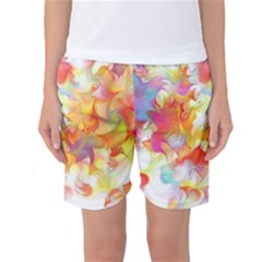 Hawaiian Flair Women s Basketball Shorts by SugaPlumsEmporium