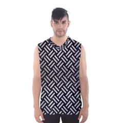 Woven2 Black Marble & Silver Brushed Metal Men s Basketball Tank Top by trendistuff