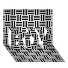 Woven1 Black Marble & Silver Brushed Metal (r) Boy 3d Greeting Card (7x5) by trendistuff