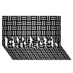 Woven1 Black Marble & Silver Brushed Metal Engaged 3d Greeting Card (8x4)