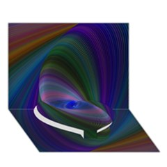 Eye Of The Galactic Storm Heart Bottom 3d Greeting Card (7x5)