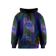 Eye Of The Galactic Storm Kids  Zipper Hoodie by StuffOrSomething