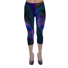 Eye Of The Galactic Storm Capri Winter Leggings  by StuffOrSomething