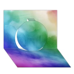 Rainbow Watercolor Circle 3d Greeting Card (7x5)  by StuffOrSomething