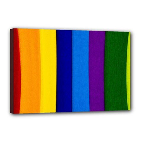 Rainbow Painting On Wood Canvas 18  X 12  by StuffOrSomething
