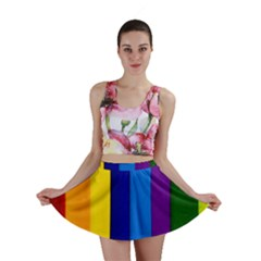 Rainbow Painting On Wood Mini Skirt by StuffOrSomething