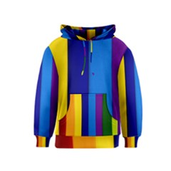 Rainbow Painting On Wood Kids  Pullover Hoodie by StuffOrSomething