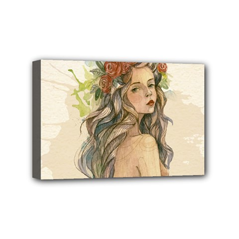 Beauty Of A Woman Mini Canvas 6  X 4  by TastefulDesigns
