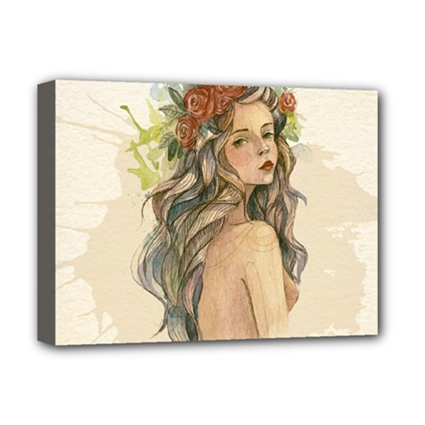 Beauty Of A Woman Deluxe Canvas 16  X 12   by TastefulDesigns