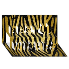 Skin4 Black Marble & Gold Brushed Metal (r) Best Wish 3d Greeting Card (8x4)