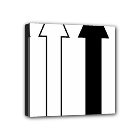 Funny Black and White Stripes Diamonds Arrows Mini Canvas 4  x 4