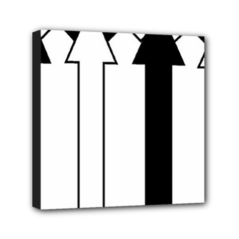 Funny Black and White Stripes Diamonds Arrows Mini Canvas 6  x 6