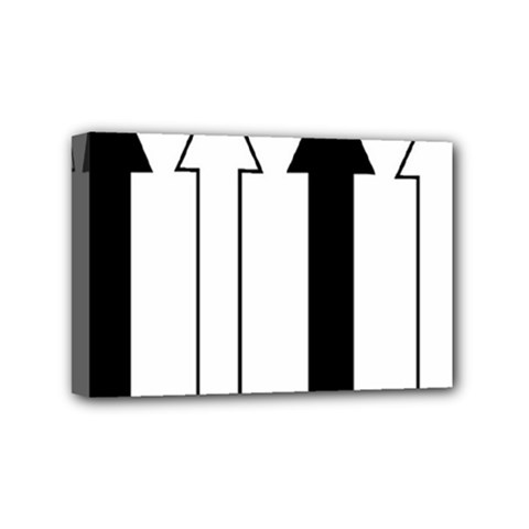 Funny Black and White Stripes Diamonds Arrows Mini Canvas 6  x 4