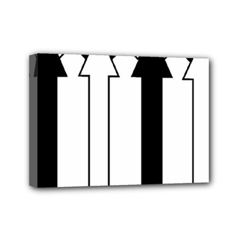 Funny Black and White Stripes Diamonds Arrows Mini Canvas 7  x 5