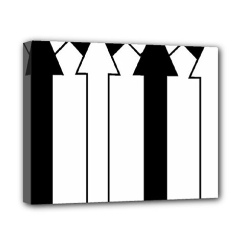 Funny Black and White Stripes Diamonds Arrows Canvas 10  x 8