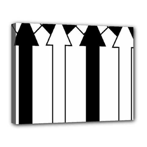 Funny Black and White Stripes Diamonds Arrows Canvas 14  x 11