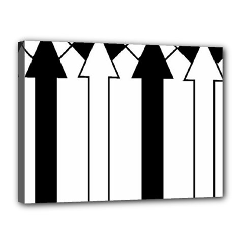 Funny Black and White Stripes Diamonds Arrows Canvas 16  x 12