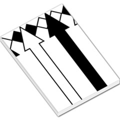 Funny Black and White Stripes Diamonds Arrows Large Memo Pads