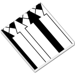 Funny Black and White Stripes Diamonds Arrows Small Memo Pads