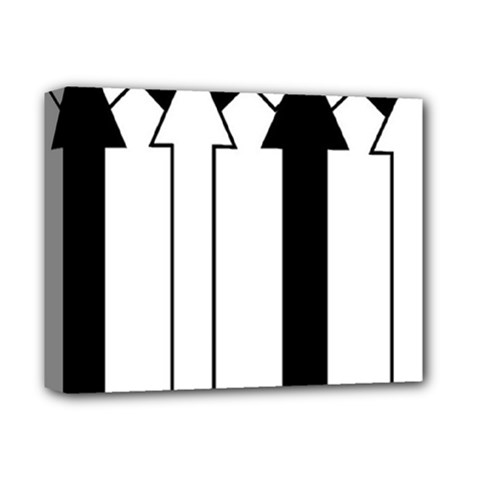 Funny Black and White Stripes Diamonds Arrows Deluxe Canvas 14  x 11