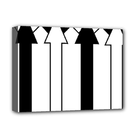 Funny Black and White Stripes Diamonds Arrows Deluxe Canvas 16  x 12
