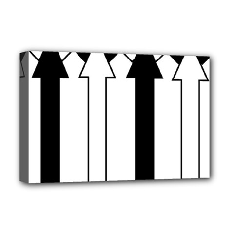 Funny Black and White Stripes Diamonds Arrows Deluxe Canvas 18  x 12