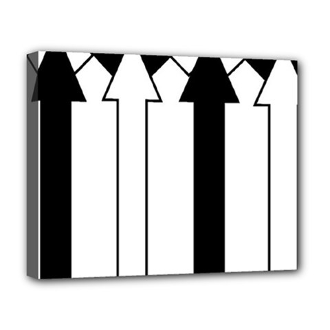 Funny Black and White Stripes Diamonds Arrows Deluxe Canvas 20  x 16