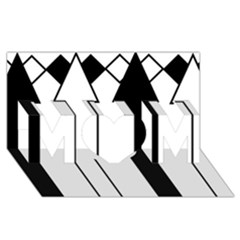 Funny Black and White Stripes Diamonds Arrows MOM 3D Greeting Card (8x4)