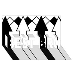 Funny Black and White Stripes Diamonds Arrows BEST BRO 3D Greeting Card (8x4)