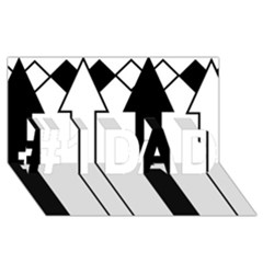 Funny Black and White Stripes Diamonds Arrows #1 DAD 3D Greeting Card (8x4)