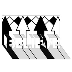Funny Black and White Stripes Diamonds Arrows BELIEVE 3D Greeting Card (8x4)