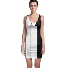 Funny Black and White Stripes Diamonds Arrows Sleeveless Bodycon Dress