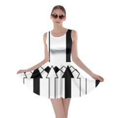 Funny Black and White Stripes Diamonds Arrows Skater Dress
