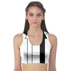 Funny Black and White Stripes Diamonds Arrows Sports Bra