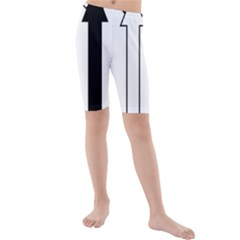 Funny Black and White Stripes Diamonds Arrows Kid s Mid Length Swim Shorts