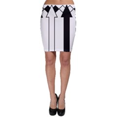 Funny Black and White Stripes Diamonds Arrows Bodycon Skirts