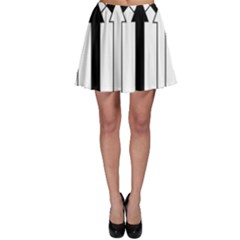 Funny Black and White Stripes Diamonds Arrows Skater Skirt