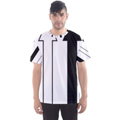 Funny Black and White Stripes Diamonds Arrows Men s Sport Mesh Tee